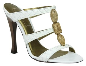 Bottega Veneta Leather Heel White Sandals