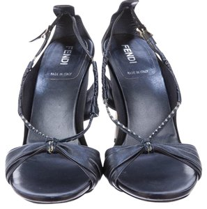 Fendi Navy and silver Sandals