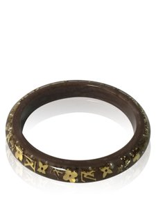 Louis Vuitton Louis Vuitton Brown Metallic Inclusion 2cm Bracelet