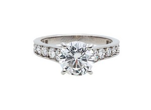 Cartier Cartier Diamond Engagement Ring With 1.70 Ct Center