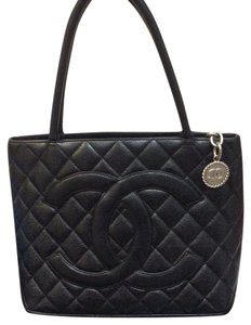 Chanel $50 off use code drop 50.00 Caviar Leather Caviar Leather Tote in Black