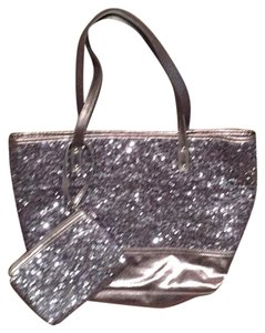 Nine West Tote in Silver Sequin