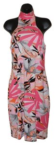 Laundry by Shelli Segal short dress White, Pink and Black Sleeveless Lined on Tradesy