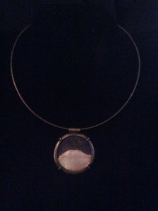 Other Bronze with mother of pearl pendent necklace