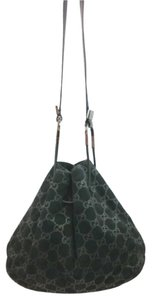Gucci Black Suede Leather Hobo Bag