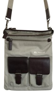 Ben Sherman Canvas And Leather Cross Body Bag
