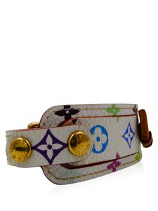 Louis Vuitton Louis Vuitton White Mulitcolor Murakami Porte Address Id Bracelet