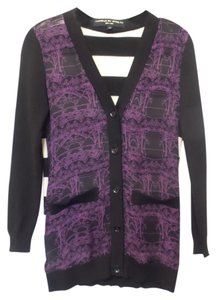 Twinkle by Wenlan Silk Striped Anthropology Cardigan