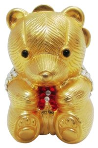 Judith Leiber JUDITH LEIBER TEDDY BEAR PILLBOX VINTAGE TRINKET CRYSTALS COLLECTIBLE