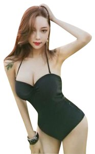 KORE SWIM Flora Bodysuit Top BLACK