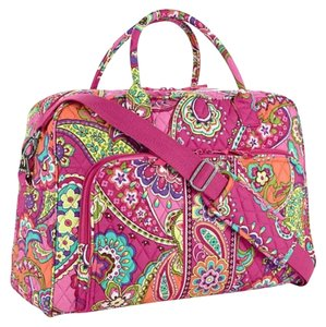 Vera Bradley pink swirls Travel Bag