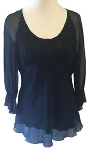 Spenser Jeremy Solid Flowing Lace Tunic