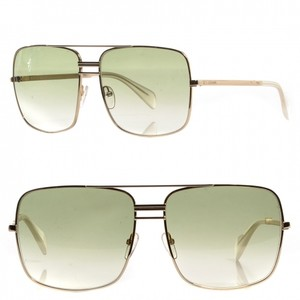 Céline NEW Celine 41808 Gold Metal Green Aviator Sunglasses