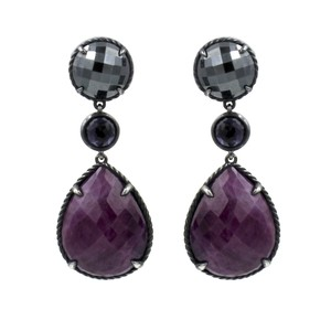 David Yurman David Yurman Ruby Moonlight Triple-Drop Earrings with Hematine