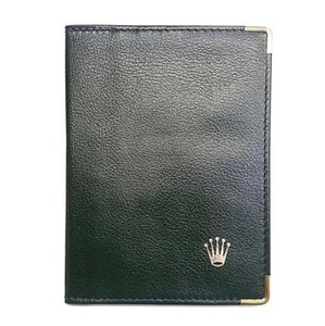 Rolex Rolex Swiss Made Leather Wallet. New With Gold Trim. Two Cash Slots And Six Card Slots!!!