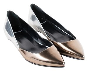 Pierre Hardy Women Boots Pumps Silver and Bronze Flats