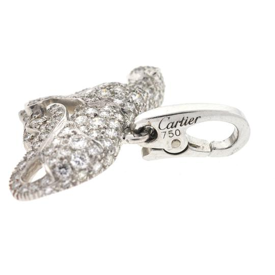 Cartier Cartier Panthere Panther 18K White Gold Diamond Charm Pendant