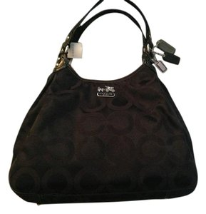 Coach Maggie Op Art Handbag Shoulder Bag