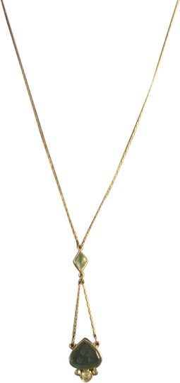Other Gold chain necklace blue-green deco