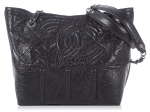 Chanel Distressed Cc Ch.k0906.03 Quilted Leather Tote