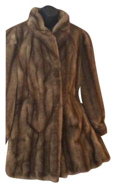 Item - Brown and Beige Coat Size 16 (XL, Plus 0x)