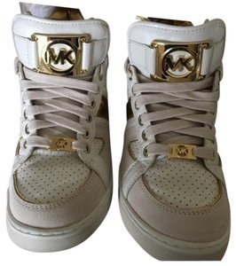 MICHAEL Michael Kors Gold and White/ Beige Athletic