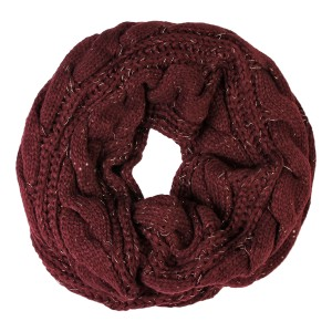 Other Knit Braid Infinity Scarf