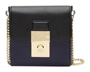 Ted Baker Leather Blue Black Gold Cross Body Bag