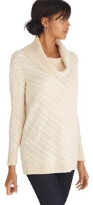 White House | Black Market Whbm Cowl Neck Open Weave Casual Boxy Fit Sweater