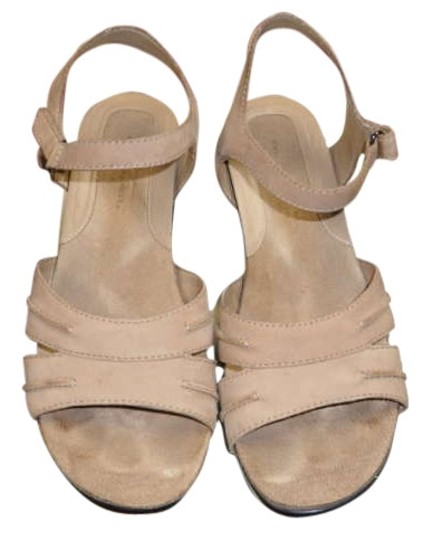 Easy Spirit Taupe Nubuck Sandals