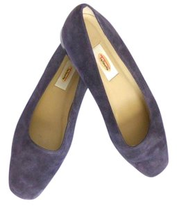 Talbots Suede Genuine Leather Ballet Eggplant Flats