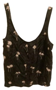 Rag & Bone & New Silk Palm Trees Top Asphalt-Comb