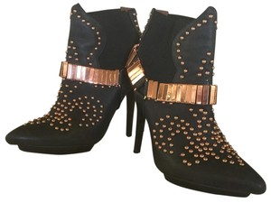 Jeffrey Campbell Black and rosé gold Boots