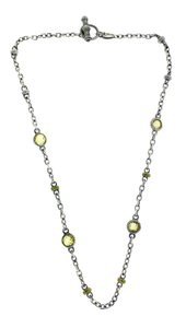 Judith Ripka Judith Ripka yellow crystal necklace in 18k gold and sterling silver