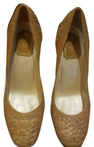 Dior TAN/ GOLD Pumps