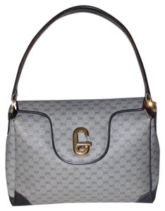 Gucci Gold Hardware Jackie O Style Satchel in Shades of blue