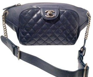 Chanel Waist Pack Dark Satchel in MIDNIGHT BLUE