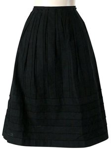 CeCe by Cynthia Steffe Jacquard Striped A-line Skirt Black