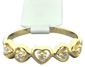 Other 14K Yellow Gold Heart Diamond Ring