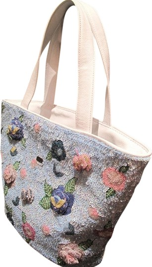 Preload https://item5.tradesy.com/images/blossoming-roses-on-beaded-tote-whitebluepink-leatherbeads-shoulder-bag-1966234-0-0.jpg?width=440&height=440
