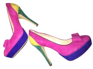 INC International Concepts Suede Multi color Pumps