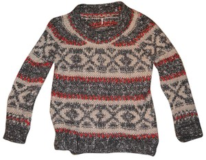 Free People Comfortable Wool Cotton Nylon Oversized Sweater
