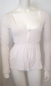 Poof Excellence Small Stripe Babydoll Top Ivory