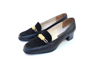 Bally Made In France Suede Black Flats