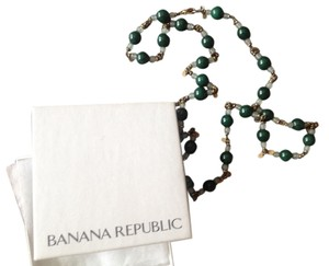 Banana Republic Rare Stone Beaded Necklace