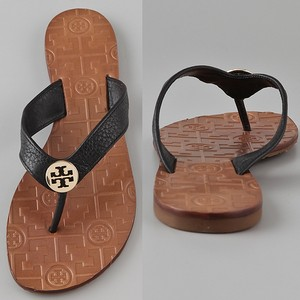 Tory Burch Thong Summer Logo Charm Bow Classic black Sandals