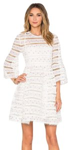 ZIMMERMANN short dress White Runway Mischief Rosebud on Tradesy