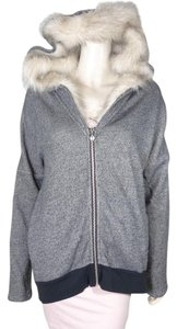 Victoria's Secret Hoodie Faux Fur GRAY Jacket