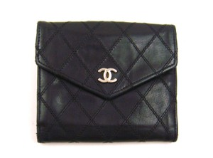 Chanel Quilted Leather Bifold Snap Wallet France