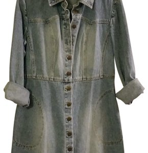 Newport News short dress Denim Denim Coat Denim Coat A-line Denim Jacket on Tradesy